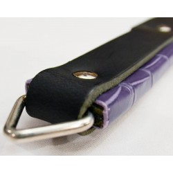 Short Paddle Strap Padded - Black with Purple Scale Handle Wrap