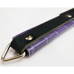 Short Paddle Strap  - Black with Purple Scale Handle Wrap